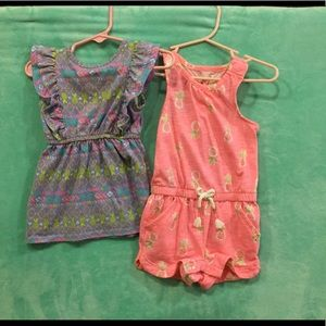 12 months dress and romper